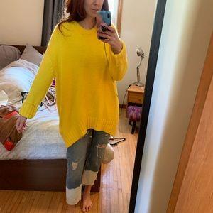 Yellow Zara knit sweater